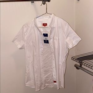 Dickies white button up women's - new!